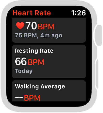 Heart rate app all sections.