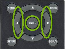 Yamaha Remote Left Right Enter Keys