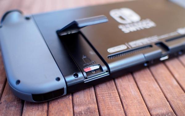 Nintendo Switch microSD card slot.