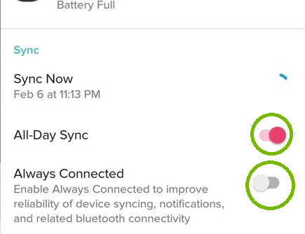 All day sync and always connected. Screenshot
