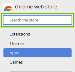 Web store with search bar highlighted.