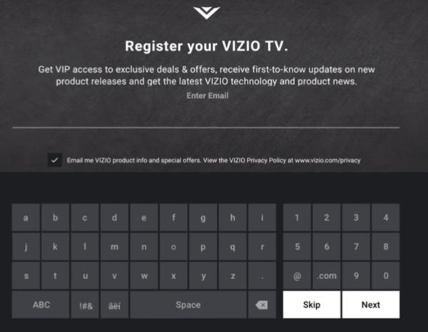 Registering your tv
