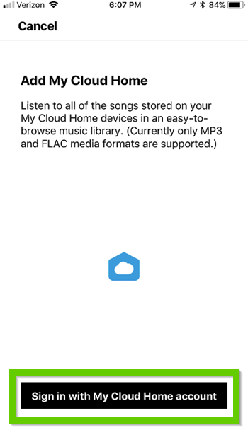 Sonos asking for WD account