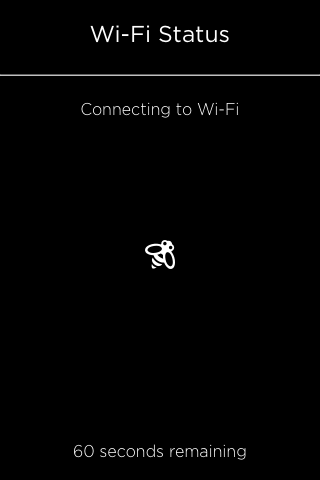 Wi-Fi connection status screen.