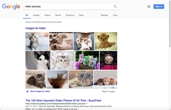 Google search results.