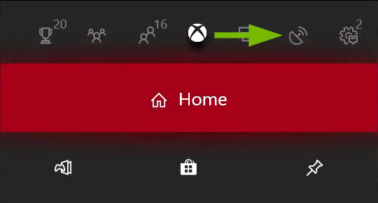 Broadcast & Capture tab pointed out in Xbox One menu.