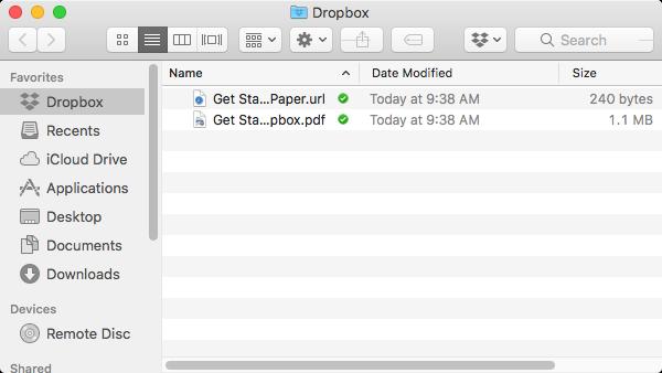 Dropbox local folder.