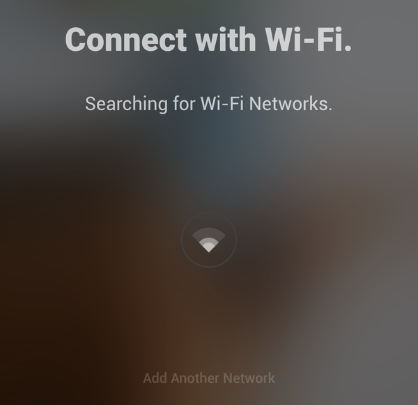 App searching for Wi-Fi networks.