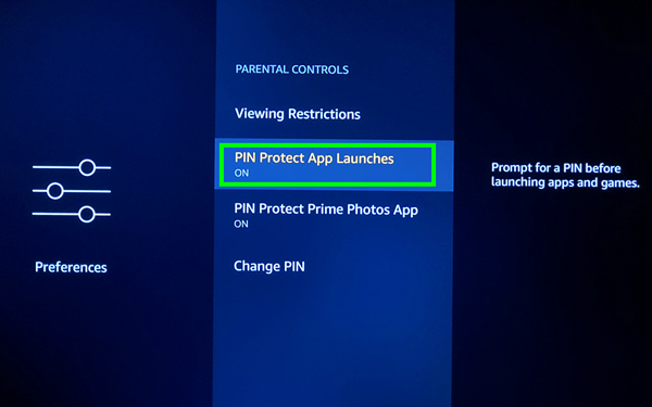 Protecting app launches with a PIN