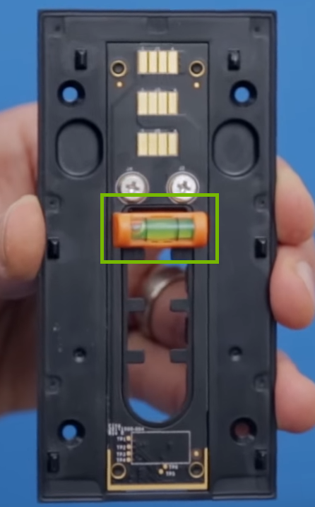 Backplate with orange level highlighted