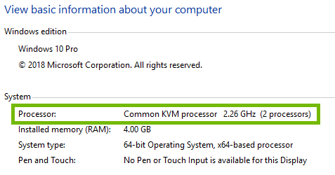 Windows System Information with Processor highlighted.