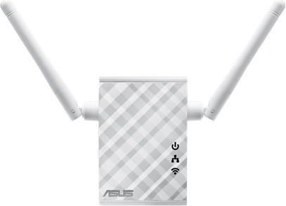 Range extender with antennas expanded.