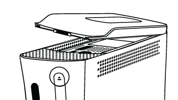 Removing the Xbox 360 hard drive. Illustration.