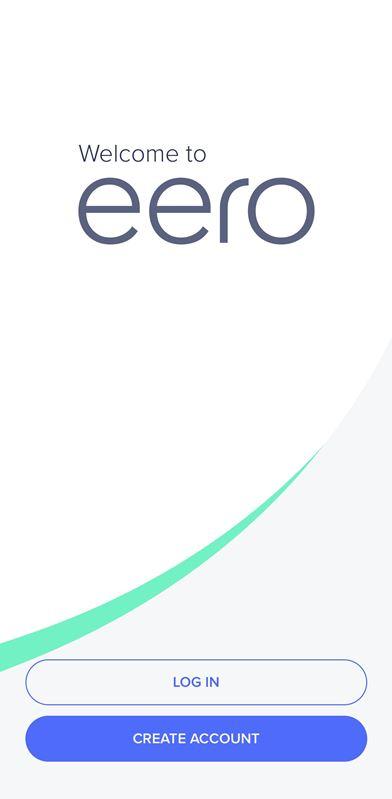 Eero Pro App Landing Screen