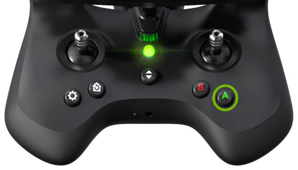 A button highlighted on SkyController 2.