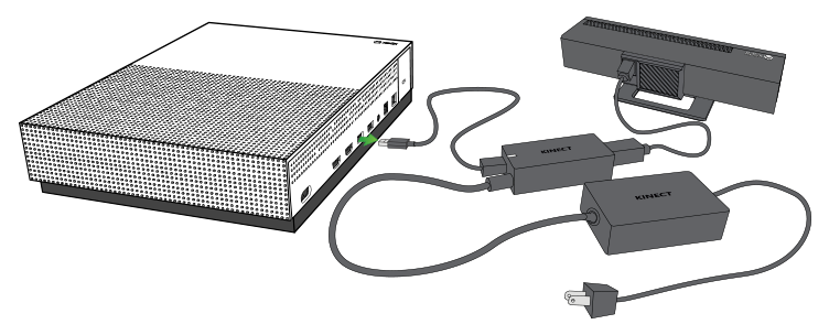 Kinect adapter being unplugged from console.