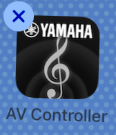 Shaking app icon with X in top left corner.