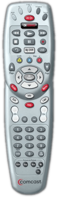 Comcast Silver with Gray OK button remote