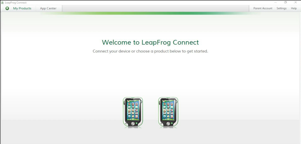 LeapFrog Connect software's home screen.