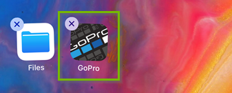 Screenshot of the GoPro app icon displaying its delete button