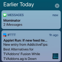 Example Notifications