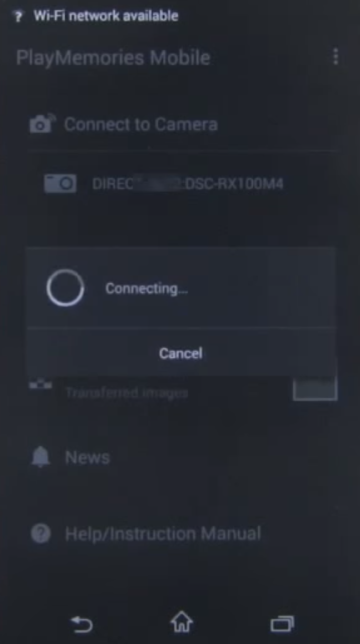 Connecting screen