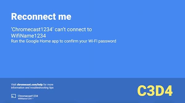 Reconnect Me Error.