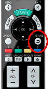 Return button on remote