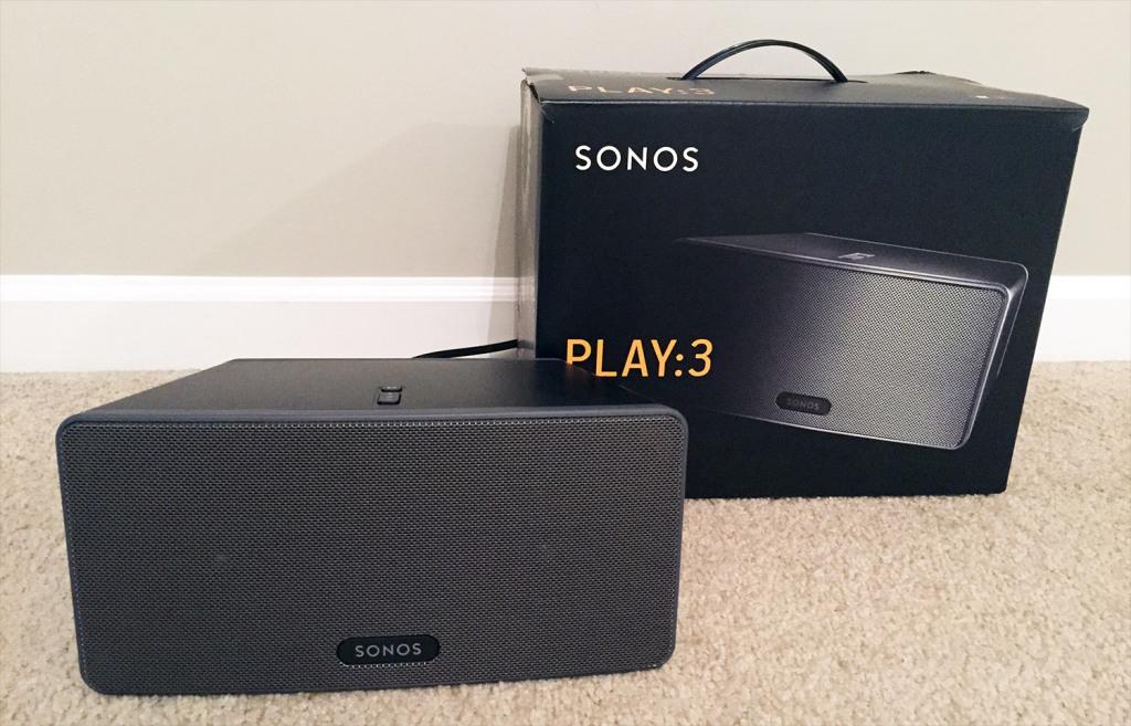 Sonos Play 3 speaker.