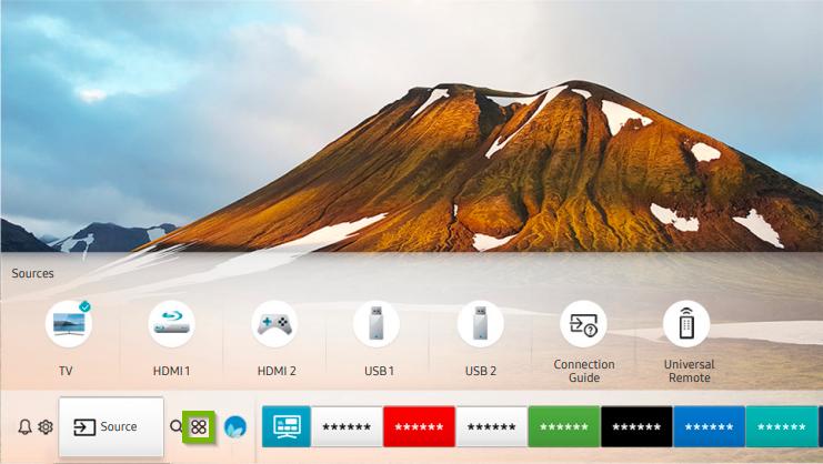Samsung smart hub screenshot