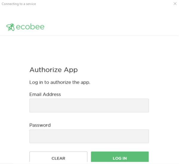 ecobee log in