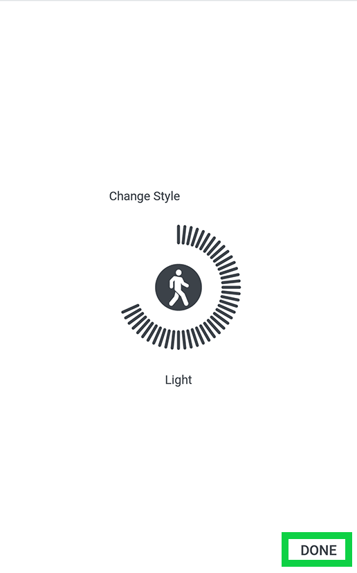 change style with done highlighted