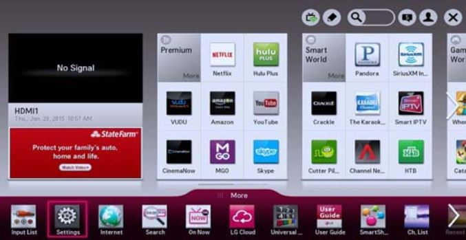 LG Smart TV using Netcast.