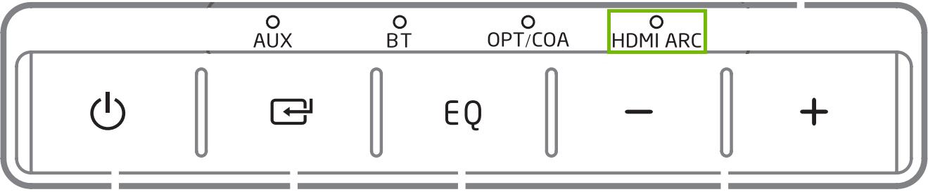 soundbar lights with HDMI ARC highlighted
