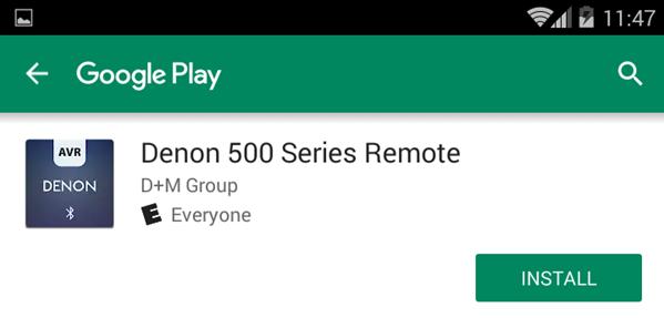 Install Denon app