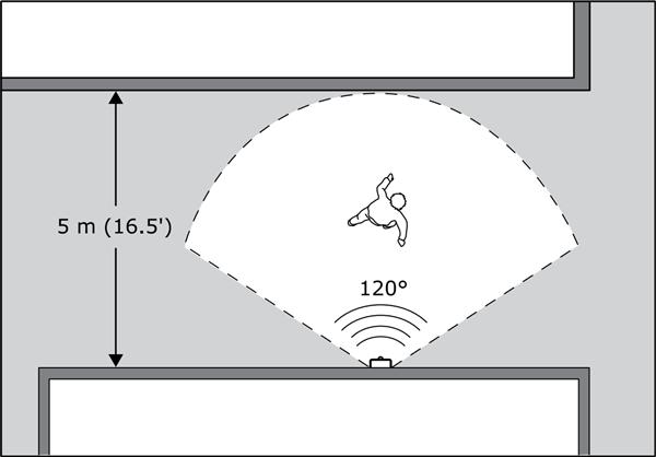 Motion detection are shown for sensor.