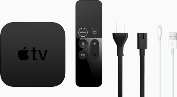 Apple TV package contents.