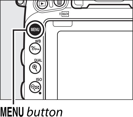 Camera Menu button highlighted