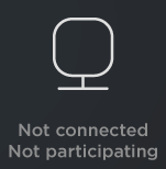 Not connected or participating
