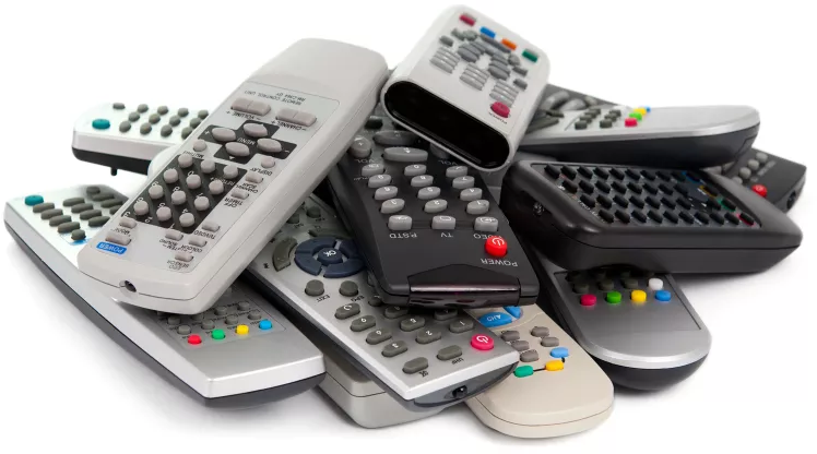 Pile of remotes.