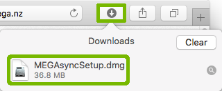 Safari downloads with download highlighted