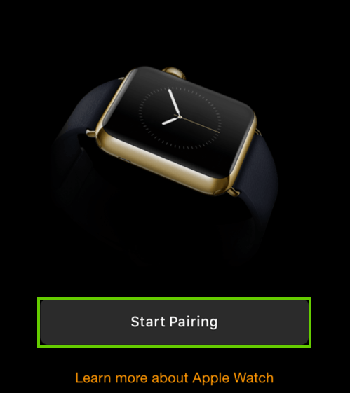 Start pairing button
