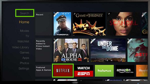 Amazon fire tv's search