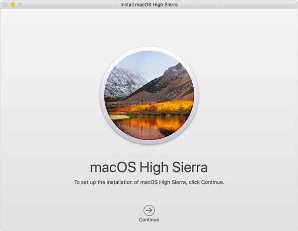 macOS High Sierra download page