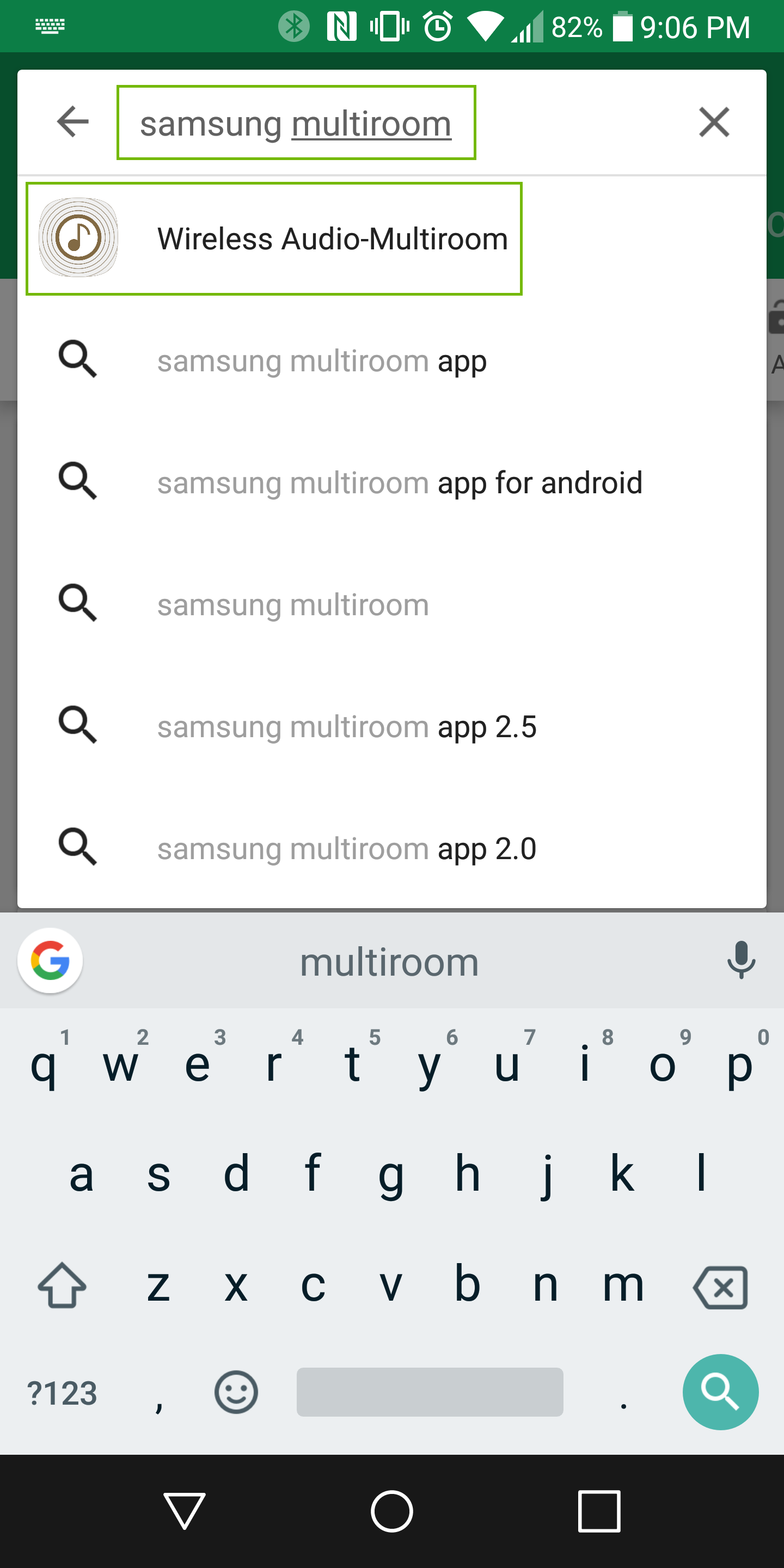 search for app