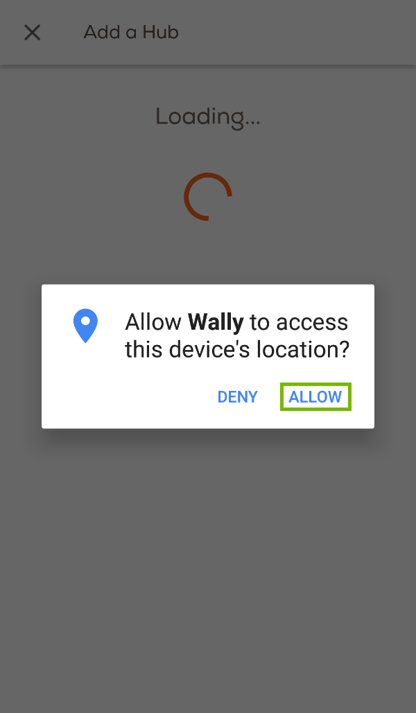 Location permissions prompt