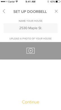 August home app prompt for naming the camera