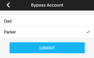 Bypass account list.