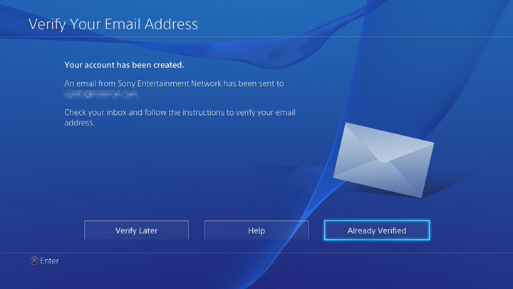 Email verification screen.