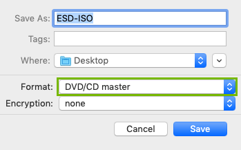 DVD/CD master highlighted